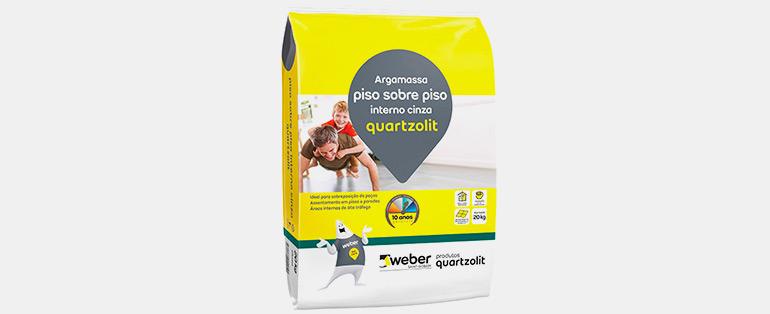 Semana do Brasil Copafer   Argamassa Cimentcola Piso Sobre Piso Interno 20kg Cinza Weber - 0046.00001.0020PL - QUARTZOLIT   Blog Copafer