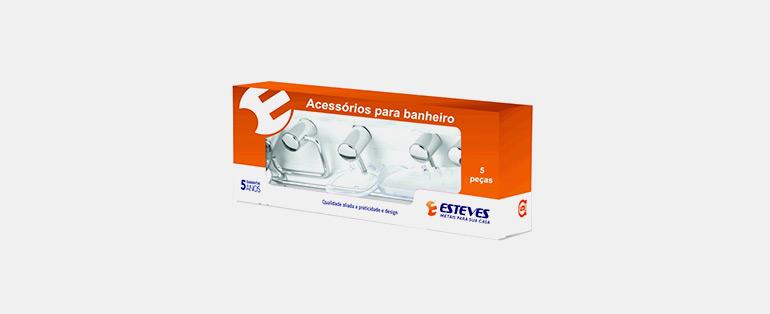 Semana do Brasil Copafer   Kit Acessórios para Banheiro com 5 Peças Alumínio Cromado - VAD057YWC - ESTEVES   Blog Copafer